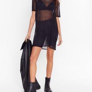Nasty Gal - Black Sheer T-shirt Dress
